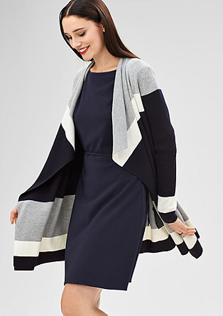 Cardigan with block stripes from s.Oliver