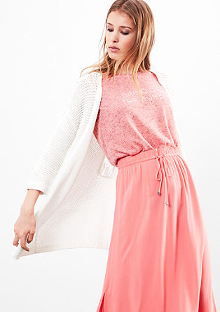 Cardigan with macramé lace from s.Oliver
