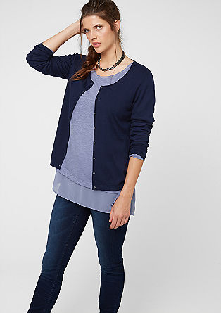 Cardigan with mother-of-pearl buttons from s.Oliver