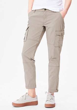 Cargo trousers in cotton satin from s.Oliver