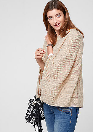 Cashmere blend poncho from s.Oliver