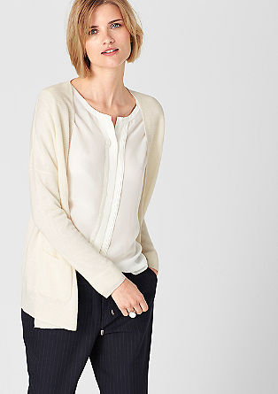 Cashmere cardigan with pockets from s.Oliver