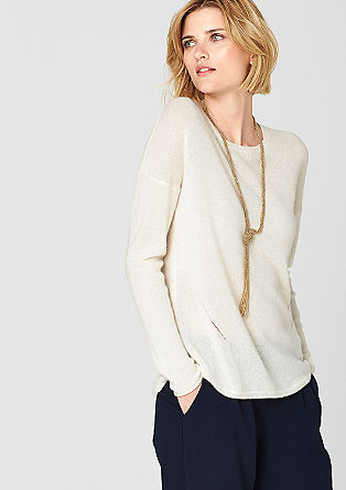 Cashmere jumper with an openwork pattern from s.Oliver