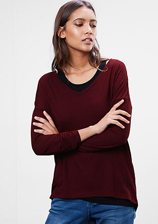 Casual 2-in-1 long sleeve with tank top from s.Oliver