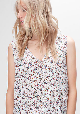 Casual blouse top with a printed pattern from s.Oliver
