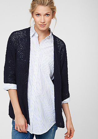 Casual cardigan with 3/4-length sleeves from s.Oliver