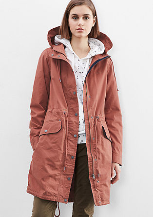 Casual cotton parka from s.Oliver