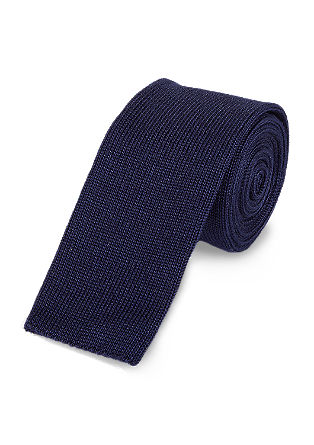 Casual cotton tie from s.Oliver