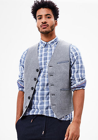 Casual fabric mix waistcoat from s.Oliver
