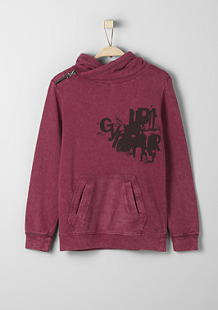 Casual hoodie with a zip from s.Oliver