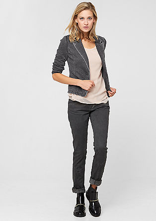 Casual jersey blazer in a vintage look from s.Oliver