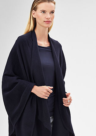 Casual knit poncho from s.Oliver