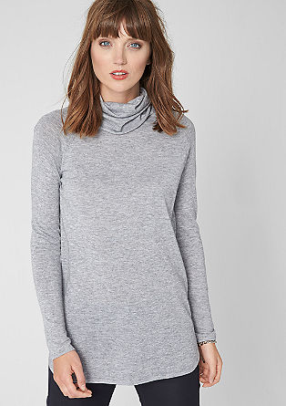 Casual knitted jumper with a polo neck from s.Oliver