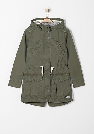 Casual parka with a hood from s.Oliver