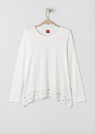 Casual shirt met lange mouwen en studs