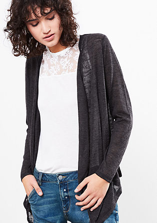 Casual slub yarn jacket from s.Oliver