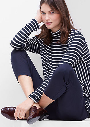 Casual stripy roll neck in viscose from s.Oliver