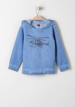 Casual sweatshirt met kleureffect