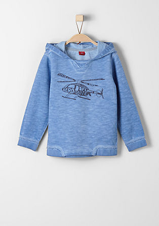 Casual sweatshirt with a dye effect from s.Oliver