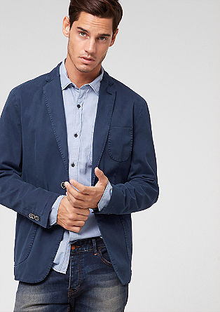 Casual tailored cotton jacket from s.Oliver