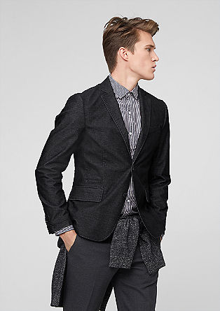 Casual tailored jacket in corduroy from s.Oliver