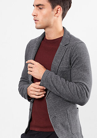 Casual tailored jacket in sweatshirt fabric from s.Oliver