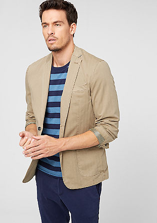 Casual tailored jacket with a herringbone pattern from s.Oliver
