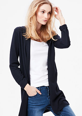 Casual textured cardigan from s.Oliver