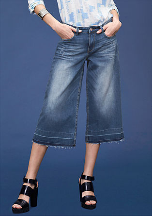 Catie: Culottes in vintage denim from s.Oliver