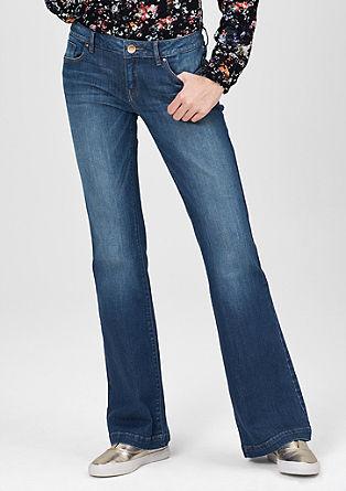 Catie Bell Bottom: jeans in een used look