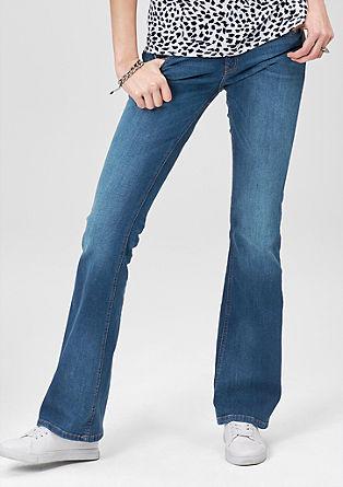 Catie bootcut: jeans met slijtageplekken