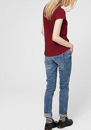 Catie Slim: Elastische Used-Jeans