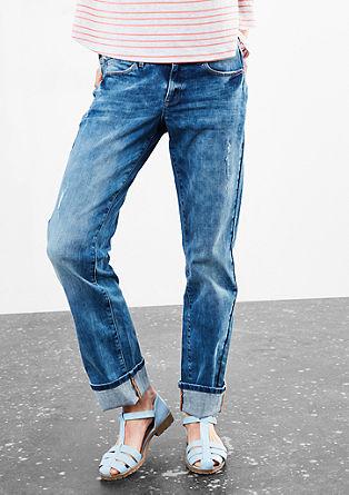 Catie Slim: jeans hlače obrabljenega videza