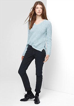 Catie Slim: jeans hlače ponošenega videza
