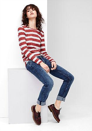 Catie Slim: Jeans hlače z okrasnimi šivi