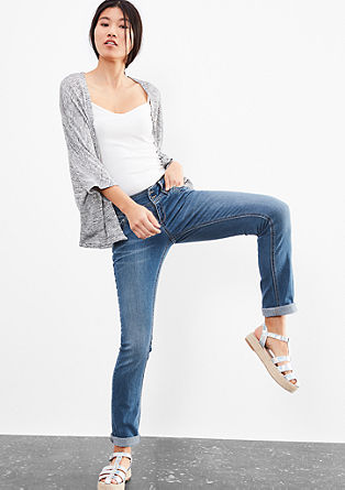 Catie Slim: Jeans with two buttons from s.Oliver