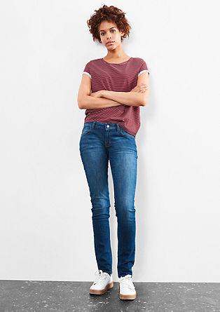 Catie slim: klassieke blue jeans