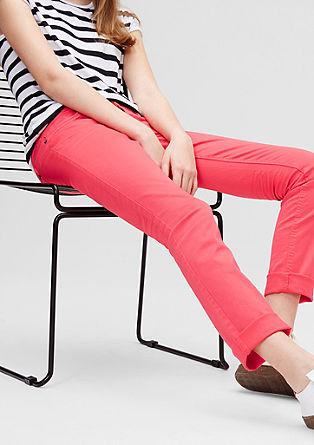 Catie Slim: ozek obarvan jeans