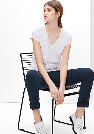 Catie Slim: slim fit coloured jeans from s.Oliver