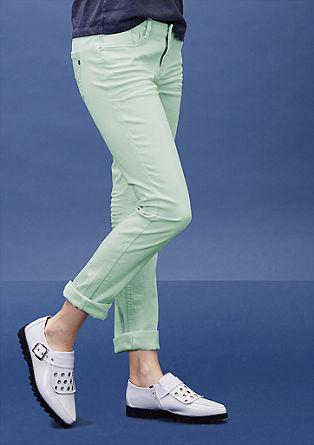 Catie slim: slim fit coloured jeans