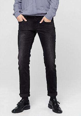 Catie Slim: Used-Jeans mit Nieten