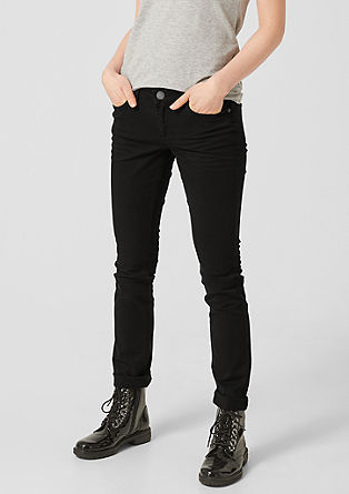 Catie Slim: Dunkle Stretch-Jeans