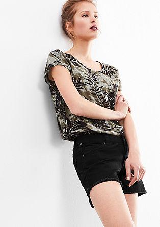Catie Slim Low: Bestickte Shorts