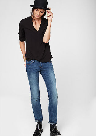 Catie Straight: blue vintage jeans from s.Oliver