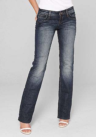 Catie Straight: Narrow stretch jeans with a low rise waist from s.Oliver
