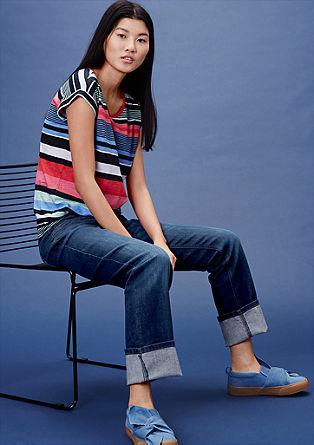 Catie straight: rechte jeans met een used look
