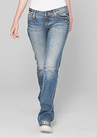 Catie Straight: stretchjeans sin smalle snit. Met lagere taille.
