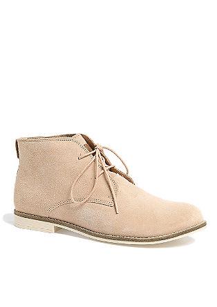 Čevlji na vezalke iz velurnega usnja