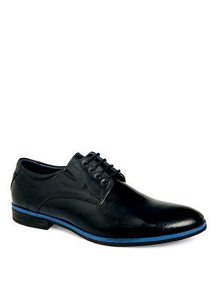Čevlji z vezalkami iz usnja in barvnim podplatom