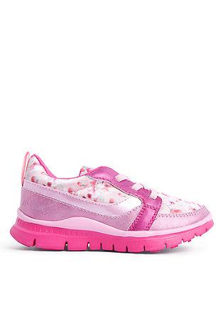 Čevlji za prosti čas iz tekstila s cvetličnim potiskom